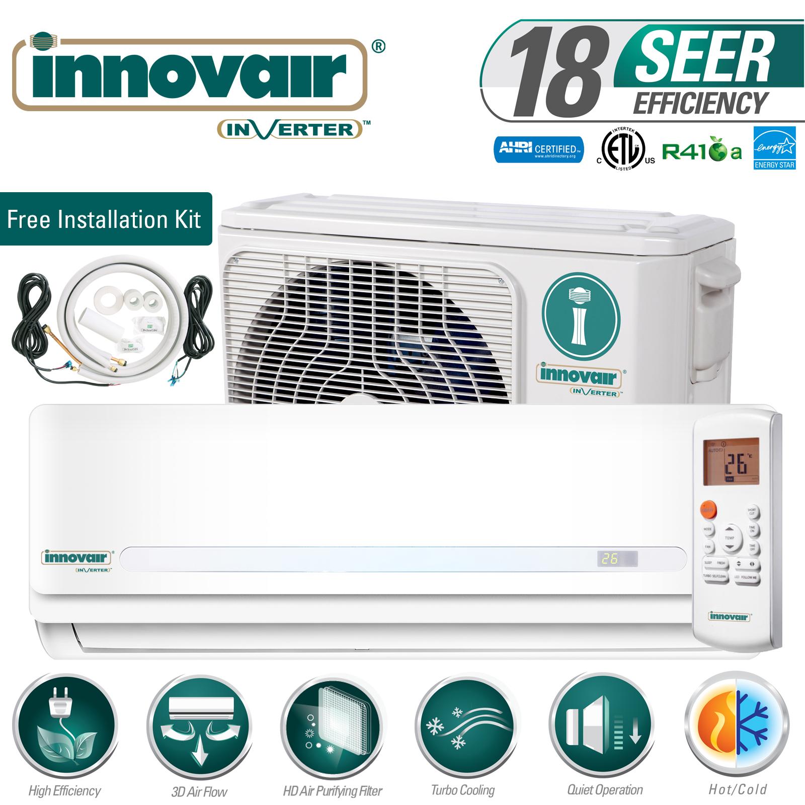30000 Btu Mini Split Air Conditioner Heat Pump Ductless 230v Innovair 18 Seer Ebay